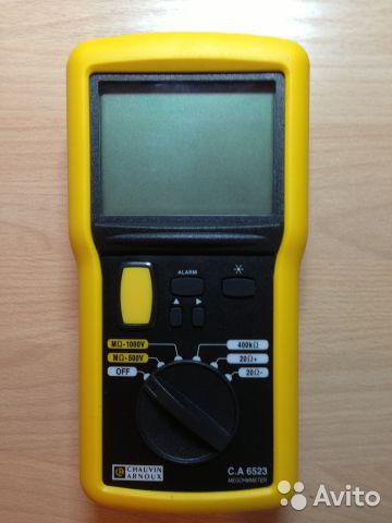 Мегаомметр цифровой С. А 6523 Мегаомметр цифровой С. А 6523, Усинск, 15000 ₽