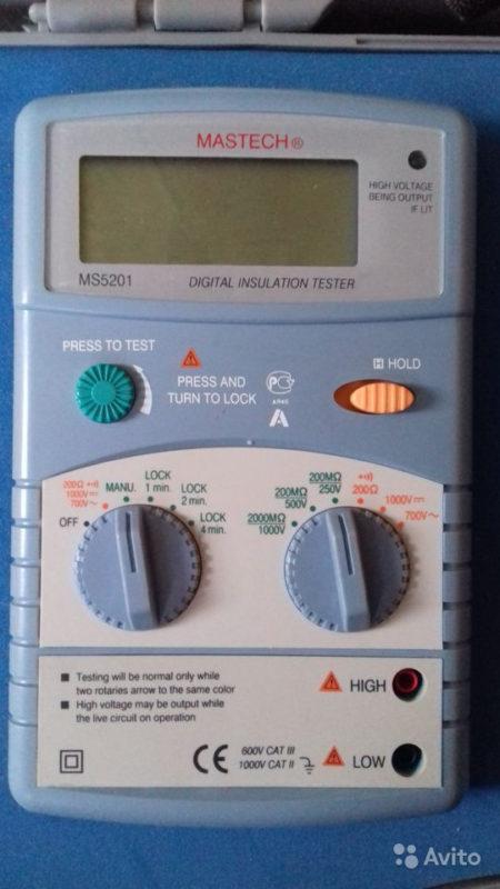 Цифровой мегаомметр Mastech ms5201 Цифровой мегаомметр Mastech ms5201, Тейково, 3000 ₽