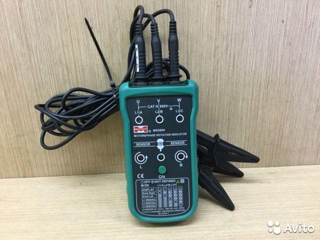Индикатор чередования фаз Mastech MS5900 №1 Индикатор чередования фаз Mastech MS5900 №1, Москва, 2499 ₽
