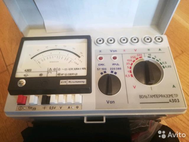 Ваф-4303 Вольтамперфазометр 4303 новый Ваф-4303 Вольтамперфазометр 4303 новый, Москва, 20000 ₽