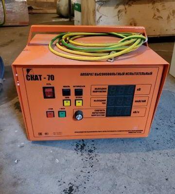 Аппарат для испытания повышенным напряжением скат