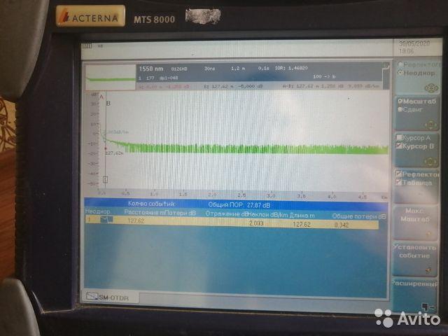 Продам рефлектометр MTS 8000 Продам рефлектометр MTS 8000, Новосибирск, 105000 ₽