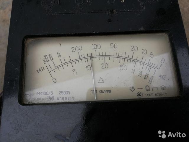 Мегаоометр стрелочный М 4100/5 2500V Мегаоометр стрелочный М 4100/5 2500V, Нефтекамск, 2300 ₽